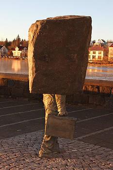 Sculpture by Lake Tjornin by Derek Sherwin