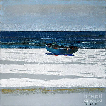 Sea and Boat by Viacheslav Rogin
