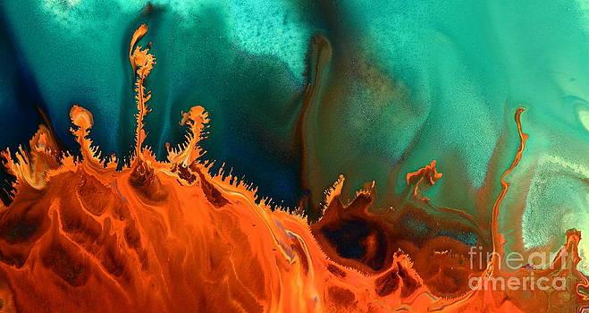 Sea Anemone - Contemporary Abstract Fluid Art by Kredart by Serg Wiaderny