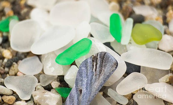 Sea Glass Collage by Patty Descalzi