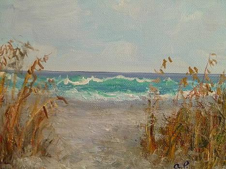 Sea Oats Seascape by Amber Palomares