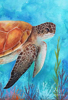 Sea Turtle 1 by Gabriela Valencia