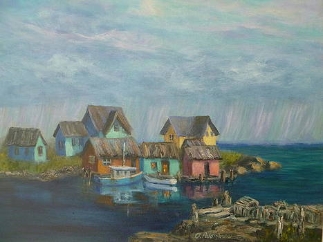 Seascape Boat Paintings by Amber Palomares