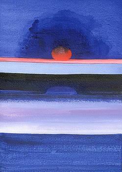 Izabella Godlewska de Aranda - Seascape, Sunset, Helsinki, 1991 Acrylic On Canvas