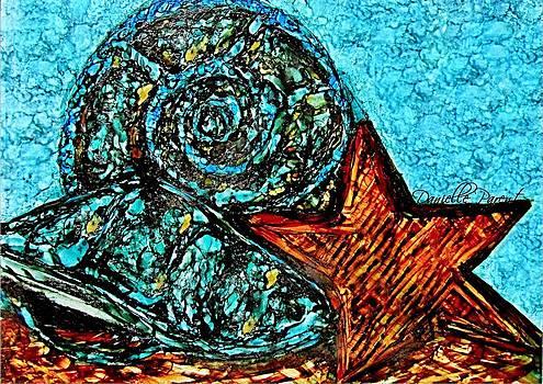 Seashells Treasures Alcohol Inks by Danielle  Parent