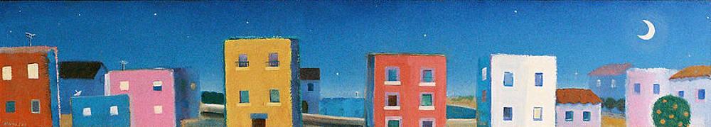 Seashore town magic night by Jorge Pinto