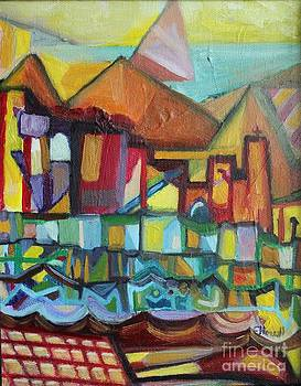 Seaside Village by Ellen Howell