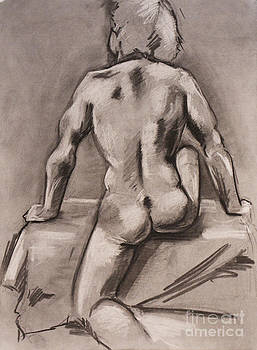 Seated Male Nude by James Strohmeyer