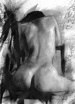 Seated Nude Study 1 by Leanne Dolan