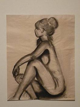 Seated Nude by Mary Clare Castor