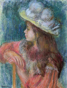 Pierre Auguste Renoir - Seated Young Girl in a White Hat