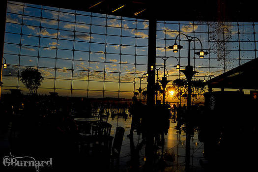 Seattle Airport Sunset by Guinapora Graphics