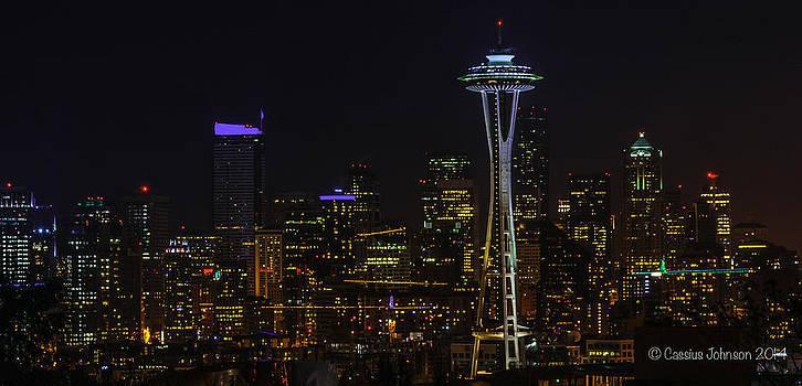 Seattle Skyline 1 by Cassius Johnson