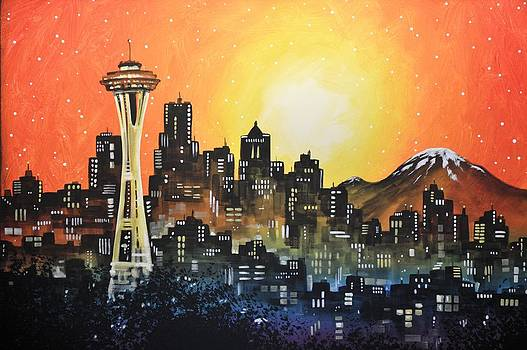 Seattle Sunset by Amy Giacomelli