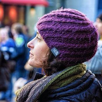 #seattle #woman #stockingcap by Ron Greer