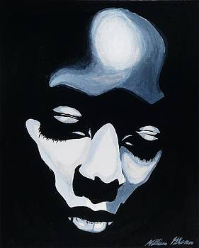 Secret Place- black and white figurative woman by Millian Glenn