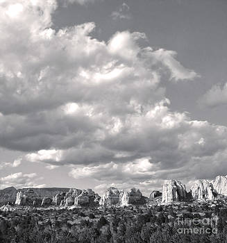 Gregory Dyer - Sedona Arizona Mountains in black and white