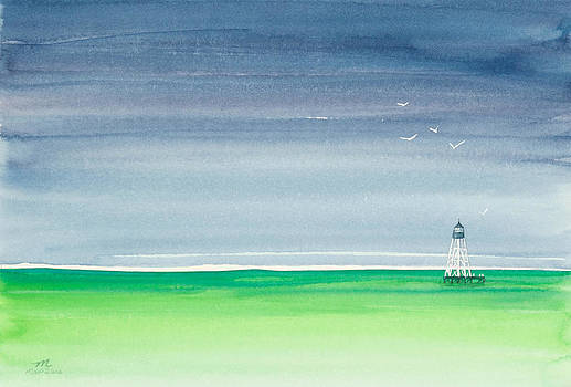 Michelle Wiarda - Seeking Refuge Before the Storm Alligator Reef Lighthouse