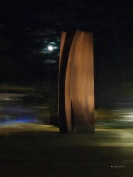 Angela A Stanton - Segerstrom Center for the Arts Sculpture in Moonlight