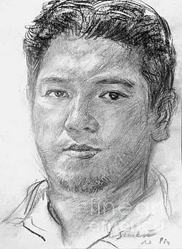 Self-portrait at 35 by Simkin de Pio