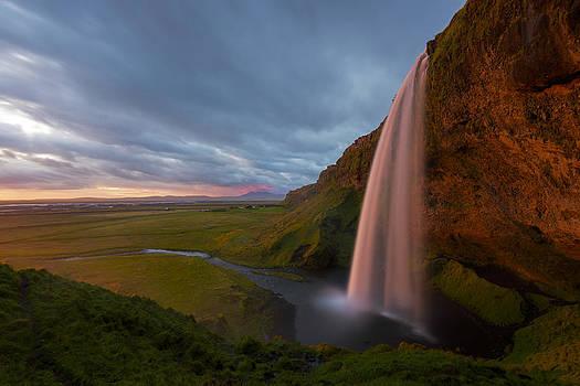 Seljalandfoss Sunset by Joseph Rossbach