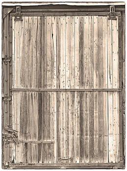 James BO  Insogna - Sepia Old Classic Colorado Railroad Car Door