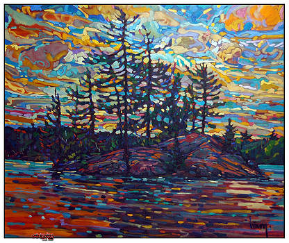 September Wind 6 Mile Lake by C A Henry