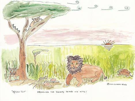 Serrengetti Cats by Helen Holden-Gladsky