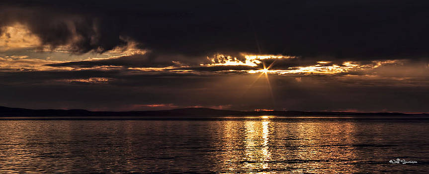 Setting Sun on Whidbey Island by Jeff Swanson