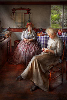 Mike Savad - Sewing - I can watch her sew for hours