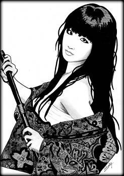Sexy Samurai by Saki Art