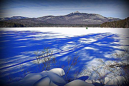 Shadows on Lake Chocorua by Suzanne DeGeorge