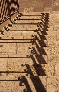 Shadows on stairs by Linda Russell