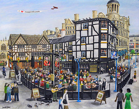 Shambles Square - Manchester by Ronald Haber