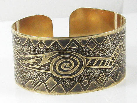Shamn Tribal Ritual Cuff Bracelet by Virginia Vivier