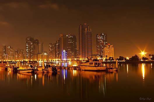Sharjah skyline by Nagi Shubo