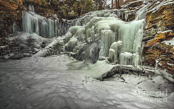 Shawnee Falls in Ice by Aaron Campbell