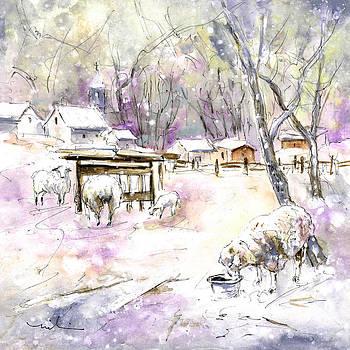 Miki De Goodaboom - Sheep In Snow In Germany