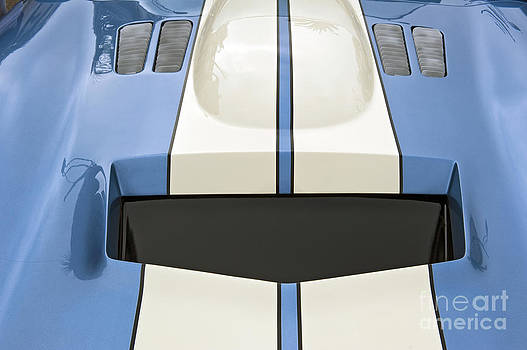 David  Zanzinger - Shelby Motors Blue White Stripe Close Up