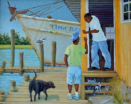 Shem Creek Docks Week End by Dwain Ray