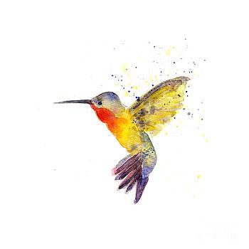 Shimmering Hummingbird in Flight by Vickie Sue Cheek