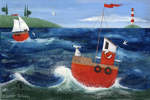 peter adderley-英國藝術家·彼得· 阿德利,他發現靠近海洋的生活是他複雜的奇想,人物和沿海場景的靈感泉源。。。 - ☆平平.淡淡.也是真☆  - ☆☆milk 平平。淡淡。也是真 ☆☆
