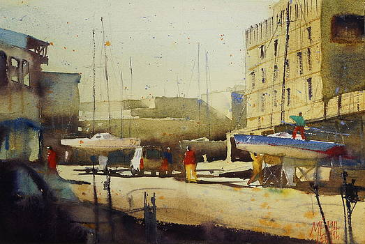 Shipyard at Keroman by Andre MEHU