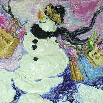Shopping Snow Girl by Paris Wyatt Llanso