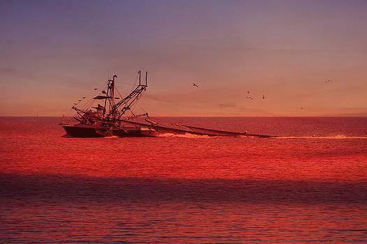 Shrimpboat and Sunrise by Jim Ziemer