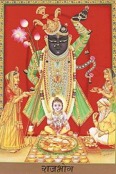Shrinath Ji Pichwai Painting by Ravi  Sharma