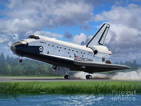 Shuttle Endeavour Touchdown by Stu Shepherd