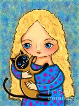 Siamese Hugs by Cynthia Snyder