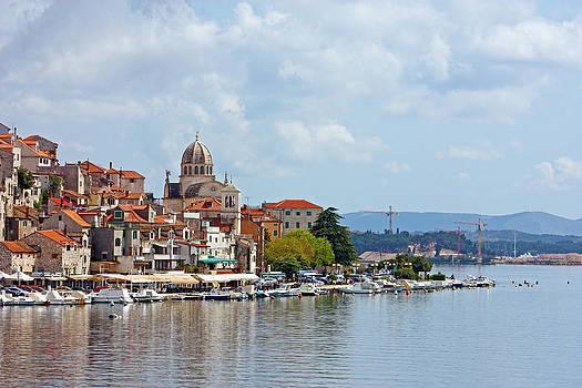 Sibenik town on Adriatic sea  by Borislav Marinic