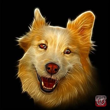 Siberian Husky Mix Dog Pop Art - 5060 BB by James Ahn